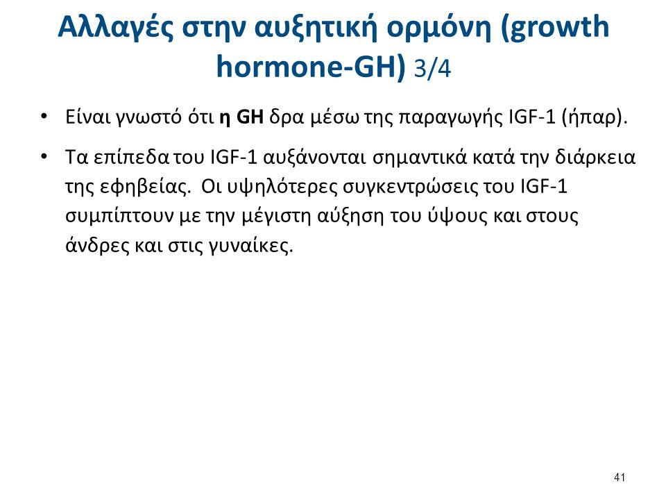 Αλλαγές στην αυξητική ορμόνη (growth hormone-GH) 4/4