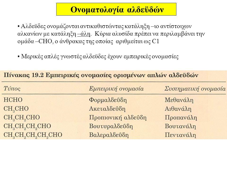 Ονοματολογία αλδεϋδών