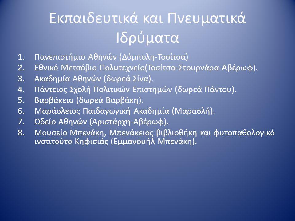 Εκπαιδευτικά και Πνευματικά Ιδρύματα