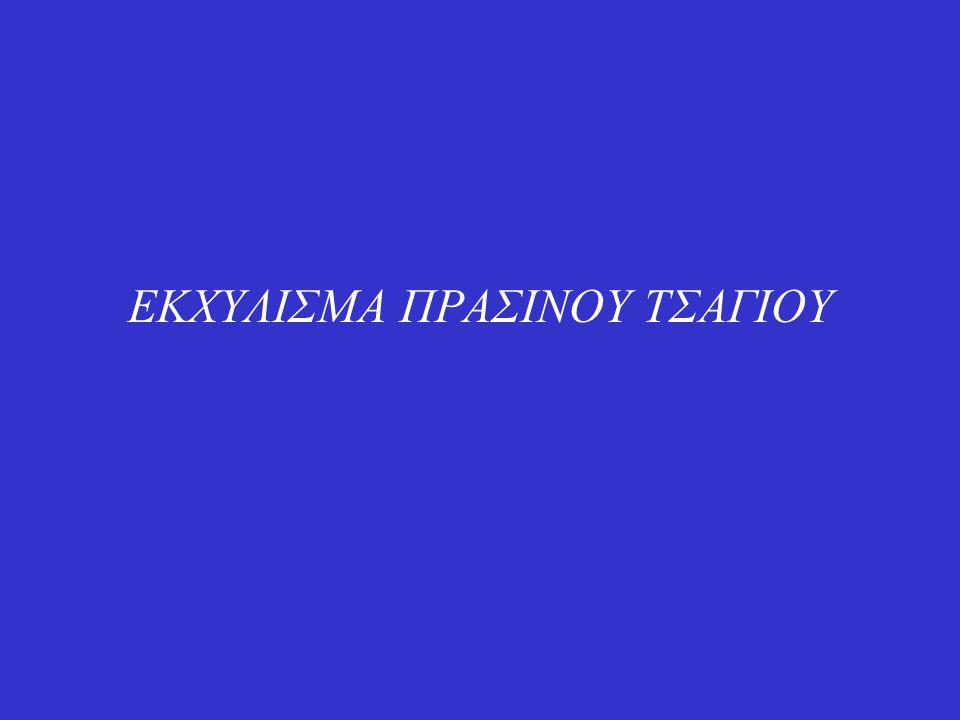 ΕΚΧΥΛΙΣΜΑ ΠΡΑΣΙΝΟΥ ΤΣΑΓΙΟΥ