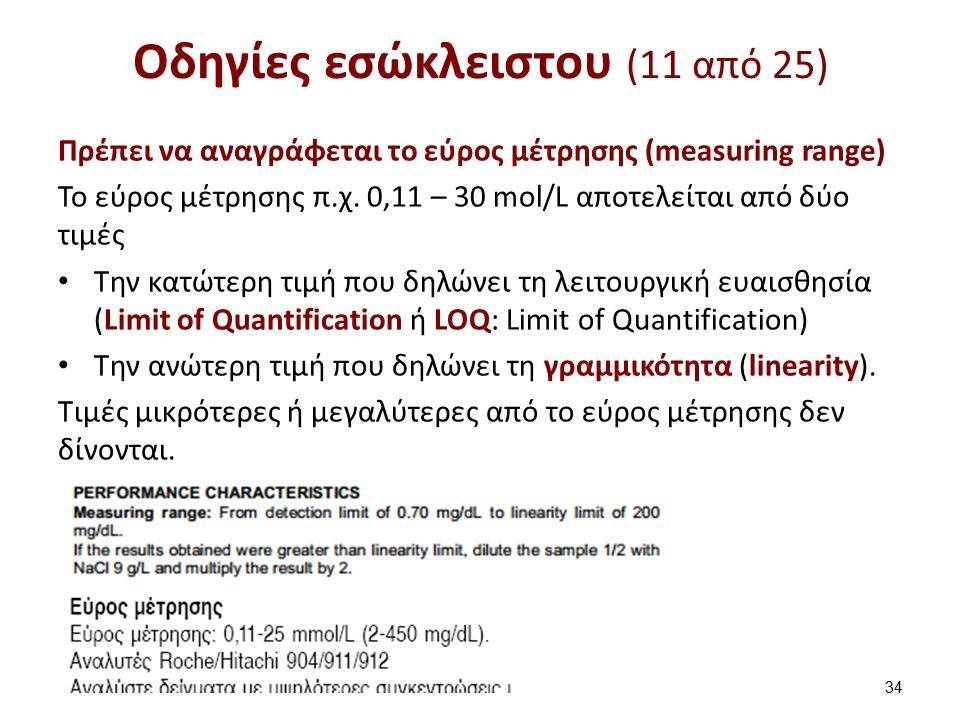 Οδηγίες εσώκλειστου (12 από 25)