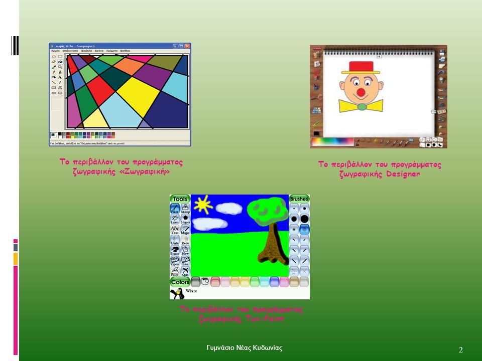 Το περιβάλλον του προγράμματος ζωγραφικής «Ζωγραφική»