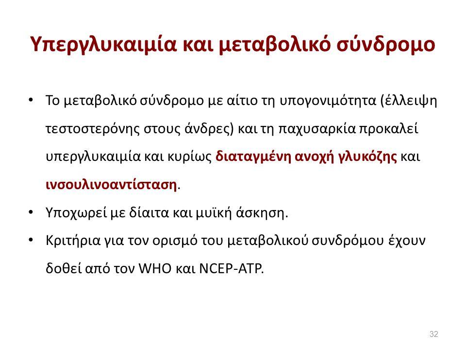Oρισμός μεταβολικού συνδρόμου κατά NCEP-ATP