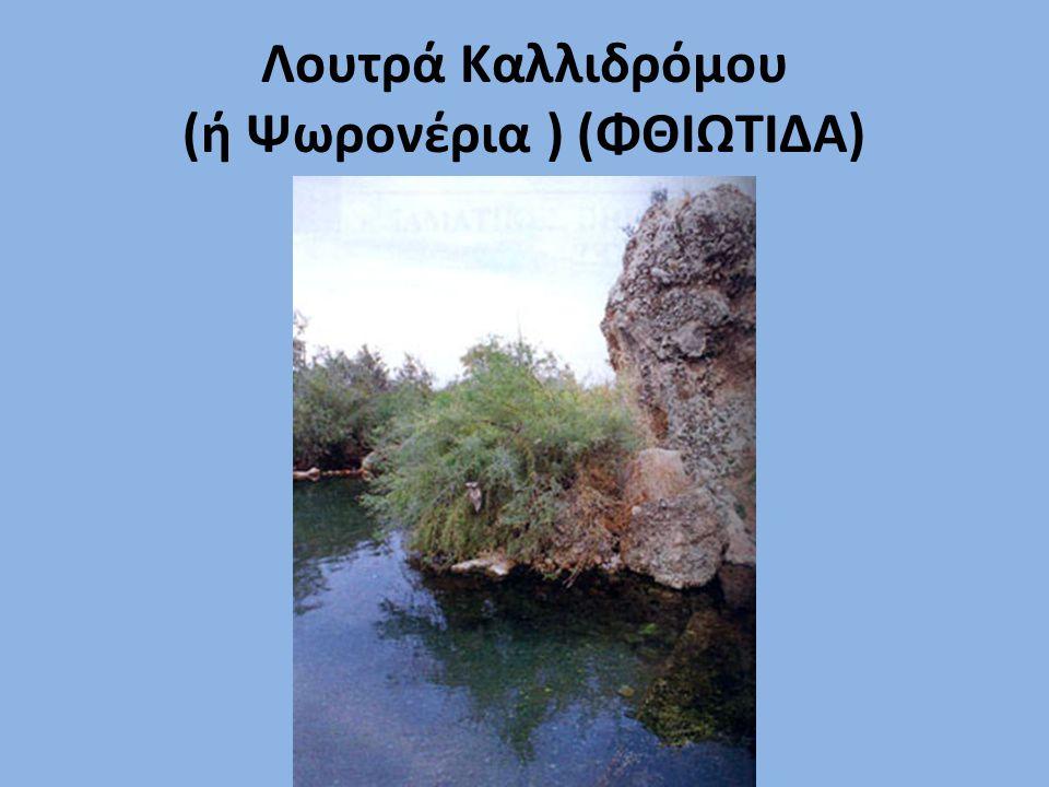 Λουτρά Καλλιδρόμου (ή Ψωρονέρια ) (ΦΘΙΩΤΙΔΑ)