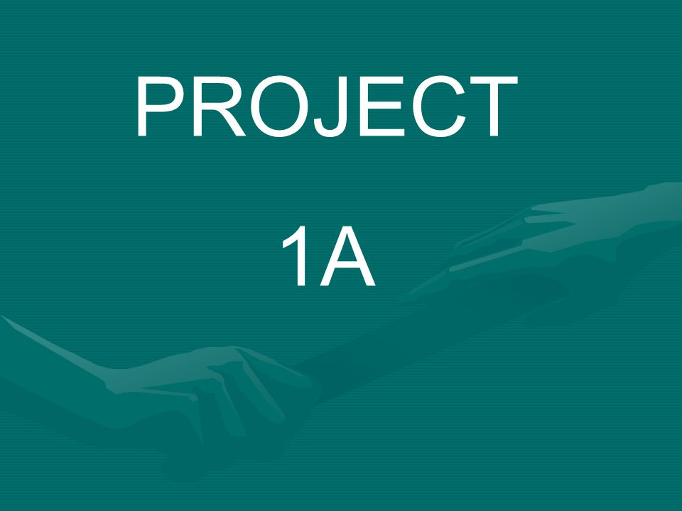 PROJECT 1A
