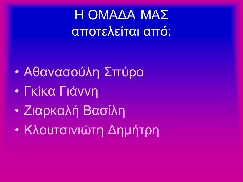 Η ΟΜΑΔΑ ΜΑΣ αποτελείται από: