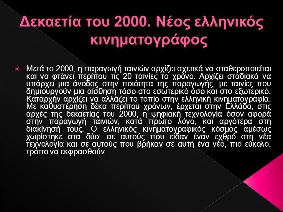 Δεκαετία τoυ 2000. Νέος ελληνικός κινηματογράφος