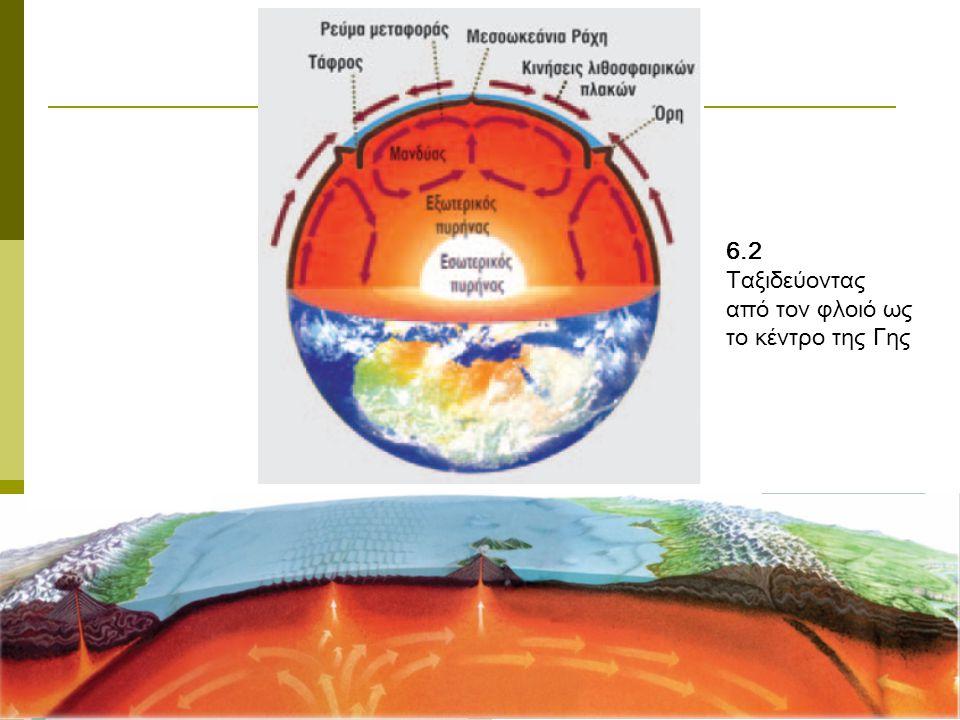 6.2 Ταξιδεύοντας από τον φλοιό ως το κέντρο της Γης