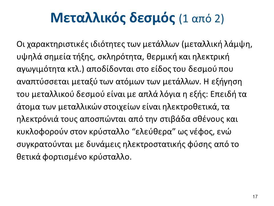 Μεταλλικός δεσμός (2 από 2)