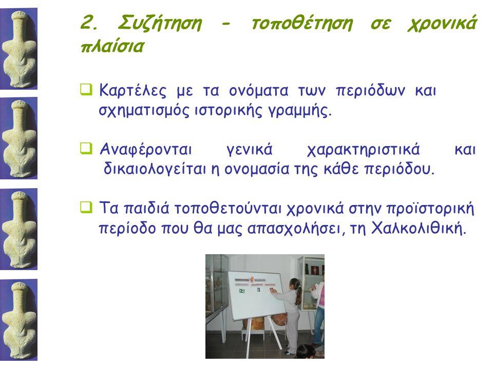 2. Συζήτηση - τοποθέτηση σε χρονικά πλαίσια