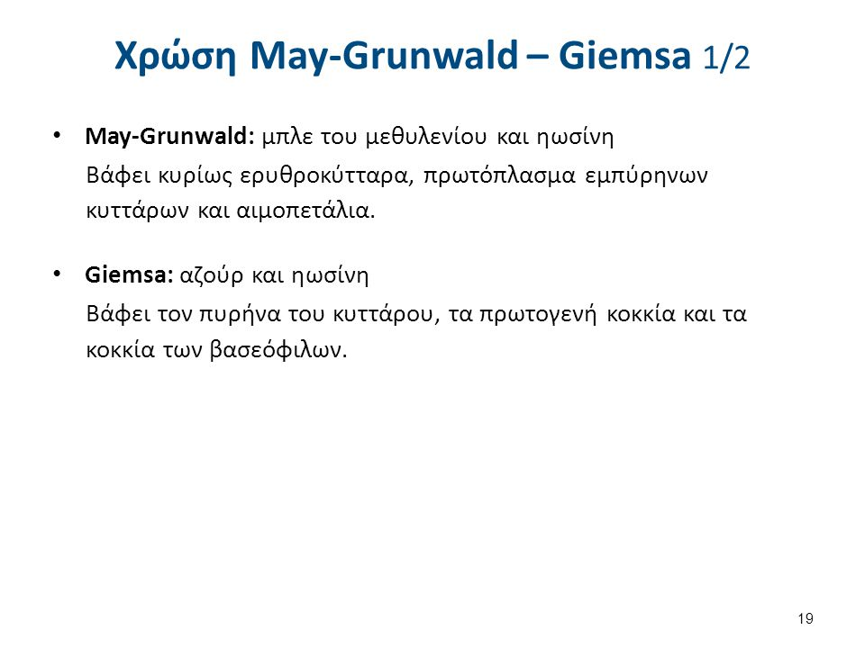 Χρώση May-Grunwald – Giemsa 2/2