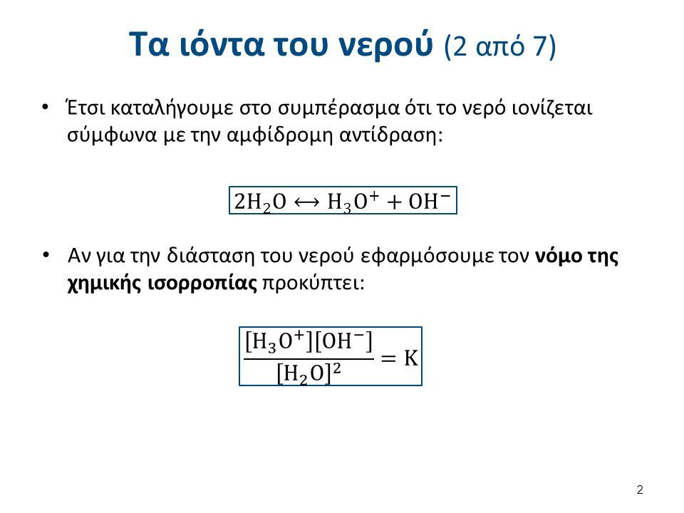 Τα ιόντα του νερού (3 από 7)