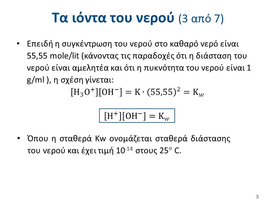 Τα ιόντα του νερού (4 από 7)