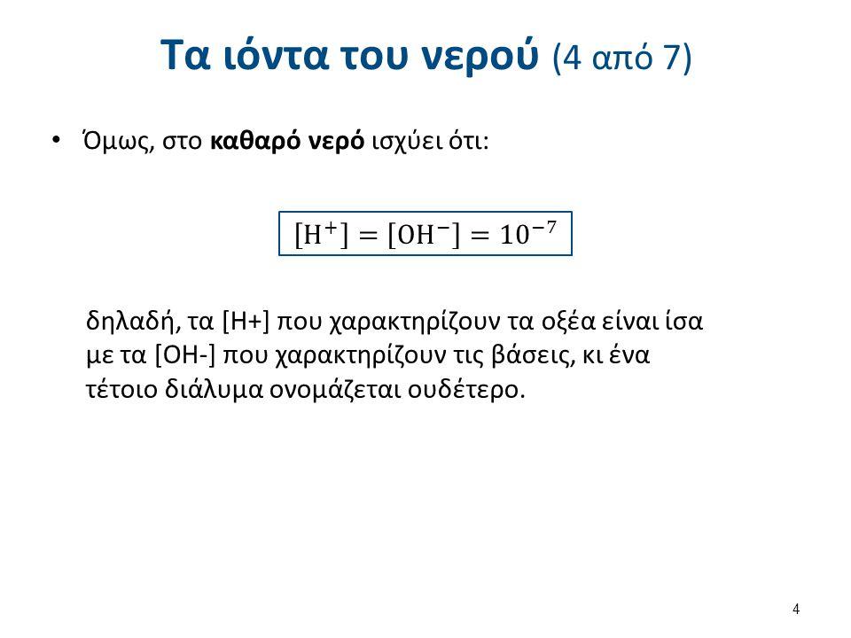 Τα ιόντα του νερού (5 από 7)