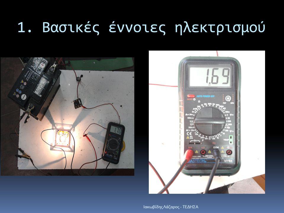 1. Βασικές έννοιες ηλεκτρισμού