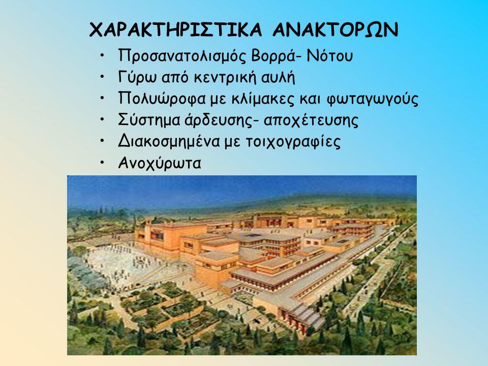 ΧΑΡΑΚΤΗΡΙΣΤΙΚΑ ΑΝΑΚΤΟΡΩΝ