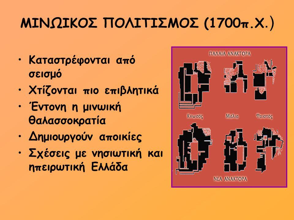 ΜΙΝΩΙΚΟΣ ΠΟΛΙΤΙΣΜΟΣ (1700π.Χ.)