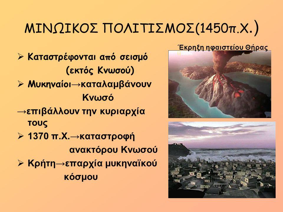 ΜΙΝΩΙΚΟΣ ΠΟΛΙΤΙΣΜΟΣ(1450π.Χ.)