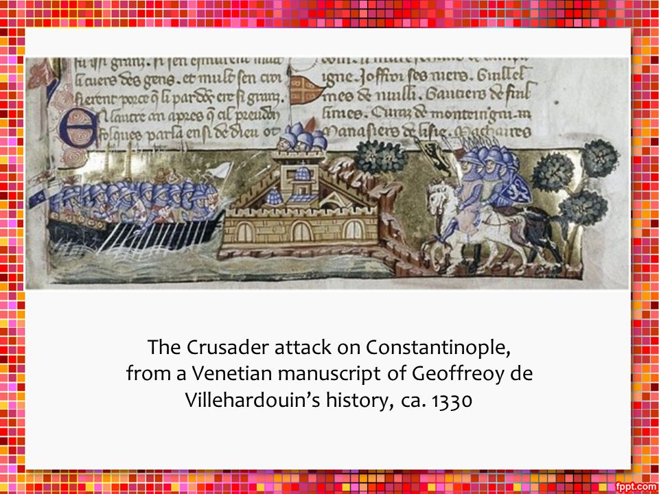 The Crusader attack on Constantinople,