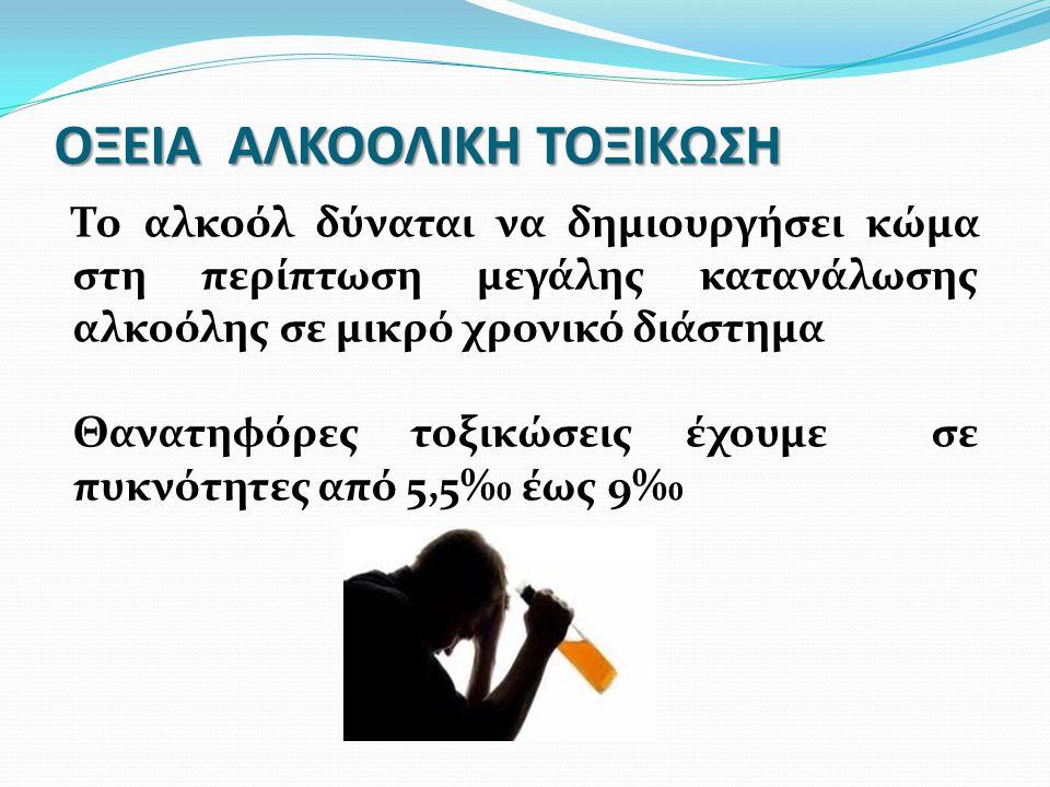 ΟΞΕΙΑ ΑΛΚΟΟΛΙΚΗ ΤΟΞΙΚΩΣΗ