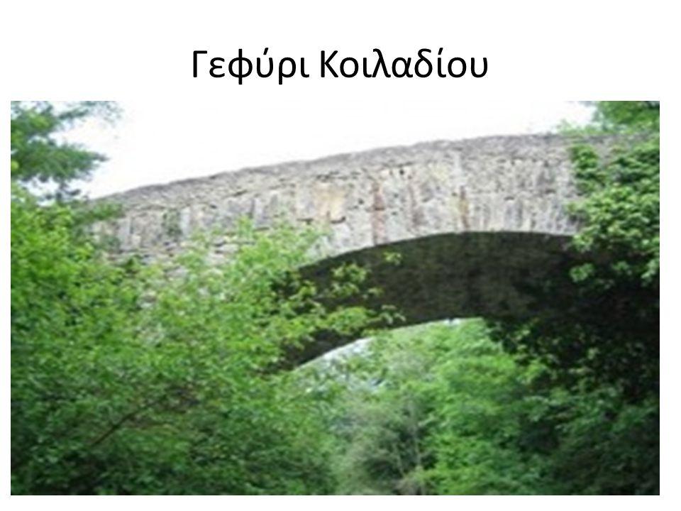 Γεφύρι Κοιλαδίου Κτίστηκε το 1905 με απόφαση των Βαλαάδων.