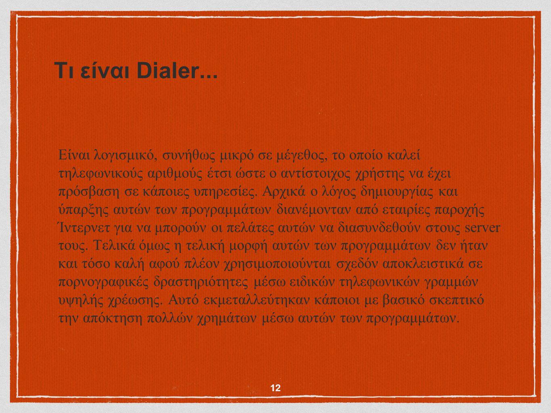 Τι είναι Dialer...