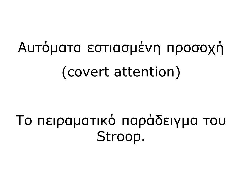 Αυτόματα εστιασμένη προσοχή (covert attention)