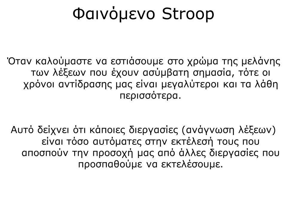 Φαινόμενο Stroop