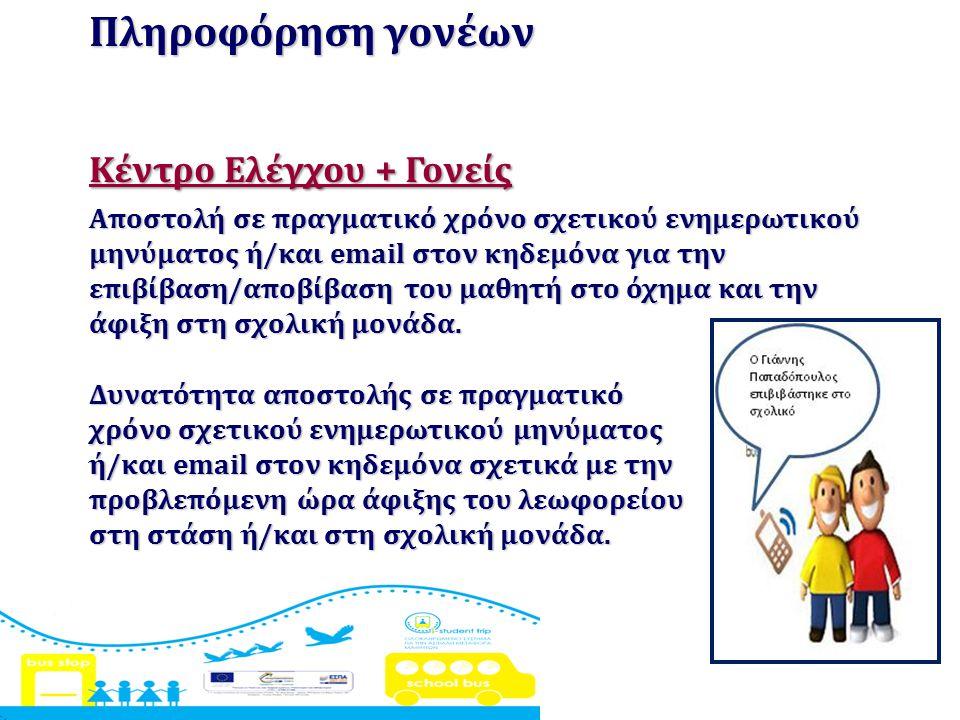 Πληροφόρηση γονέων Κέντρο Ελέγχου + Γονείς
