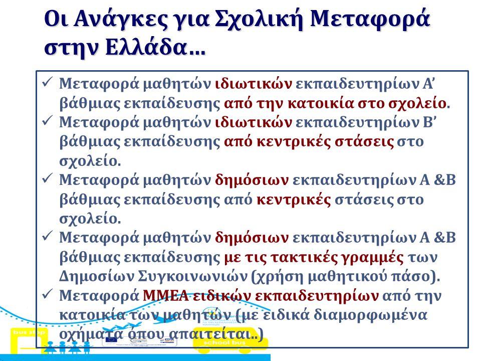 Οι Ανάγκες για Σχολική Μεταφορά στην Ελλάδα…