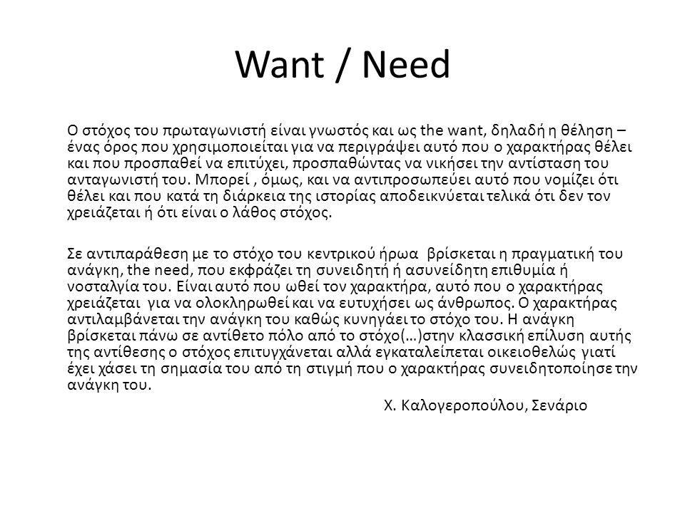 Want / Need