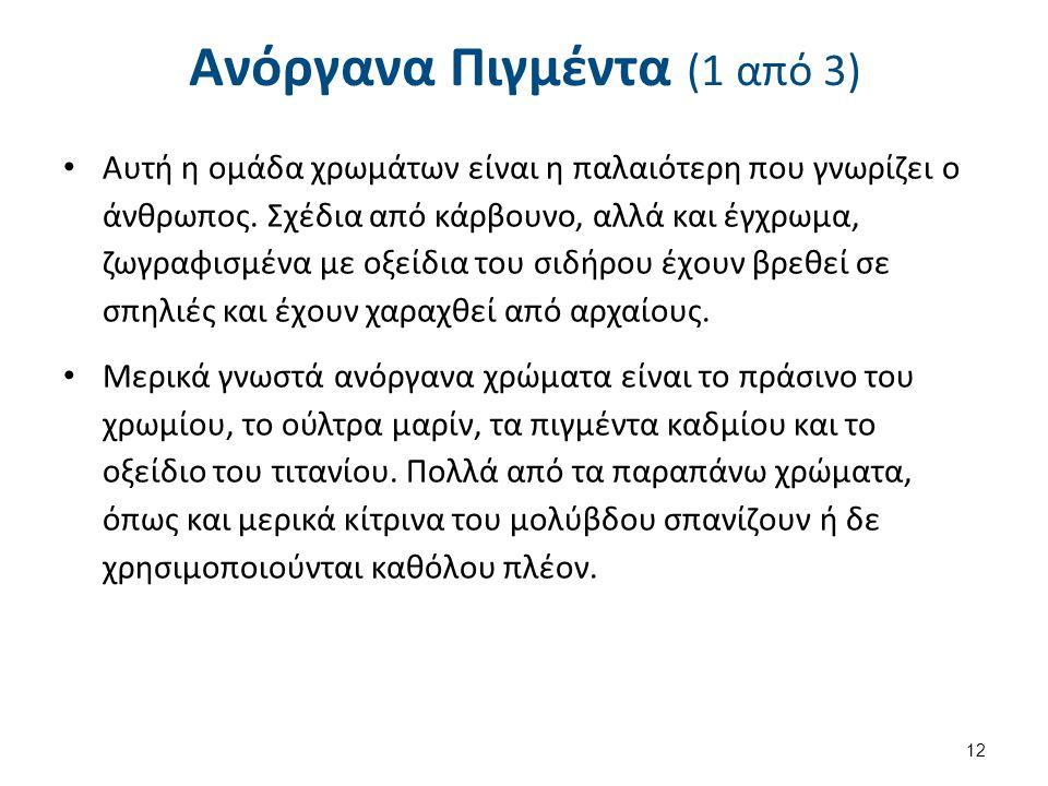 Ανόργανα Πιγμέντα (2 από 3)