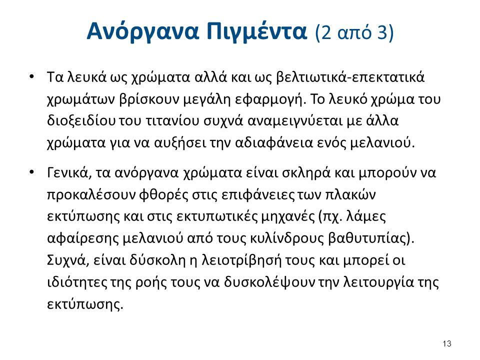 Ανόργανα Πιγμέντα (3 από 3)