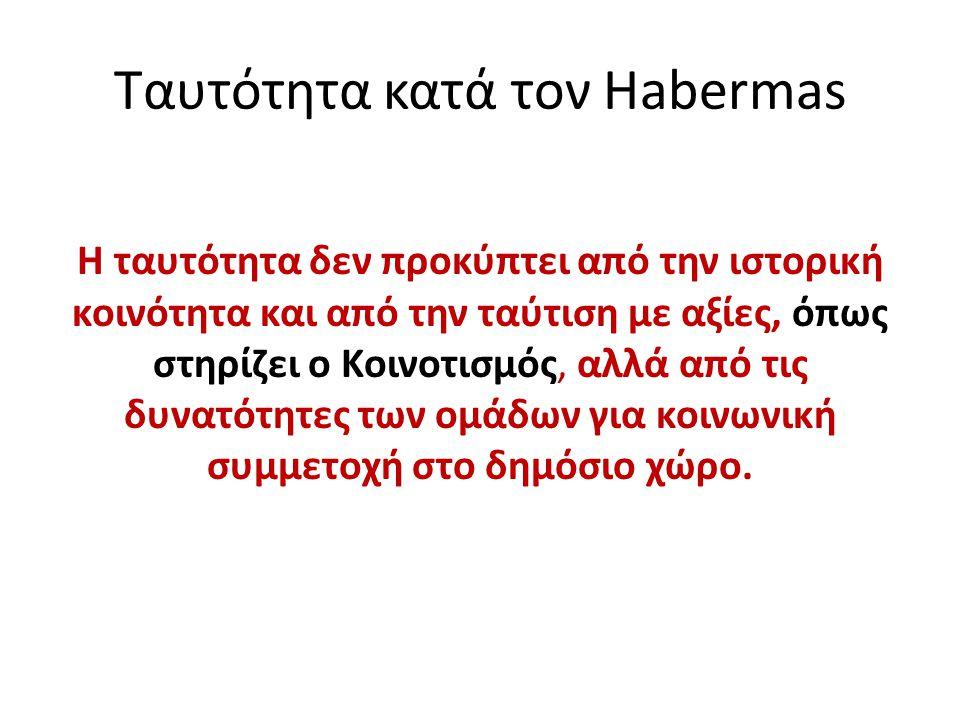 Ταυτότητα κατά τον Habermas