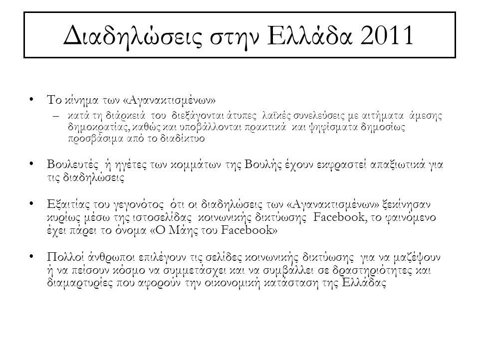 Διαδηλώσεις στην Ελλάδα 2011