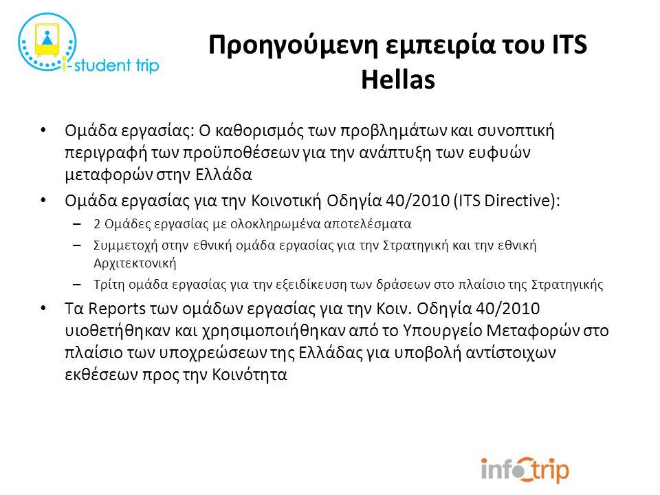 Προηγούμενη εμπειρία του ITS Hellas