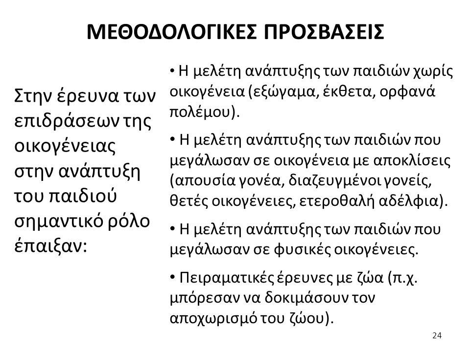 ΜΕΘΟΔΟΛΟΓΙΚΕΣ ΠΡΟΣΒΑΣΕΙΣ