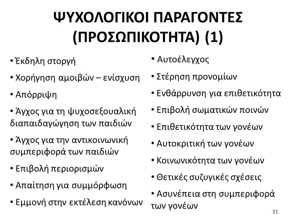 ΨΥΧΟΛΟΓΙΚΟΙ ΠΑΡΑΓΟΝΤΕΣ (ΠΡΟΣΩΠΙΚΟΤΗΤΑ) (1)