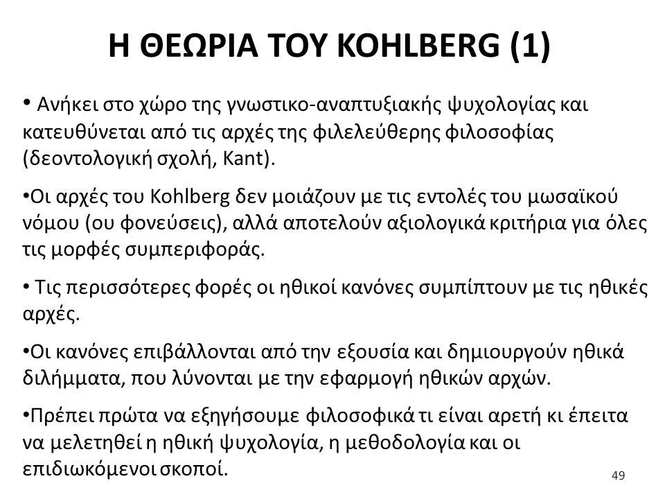 Η ΘΕΩΡΙΑ ΤΟΥ KOHLBERG (1)