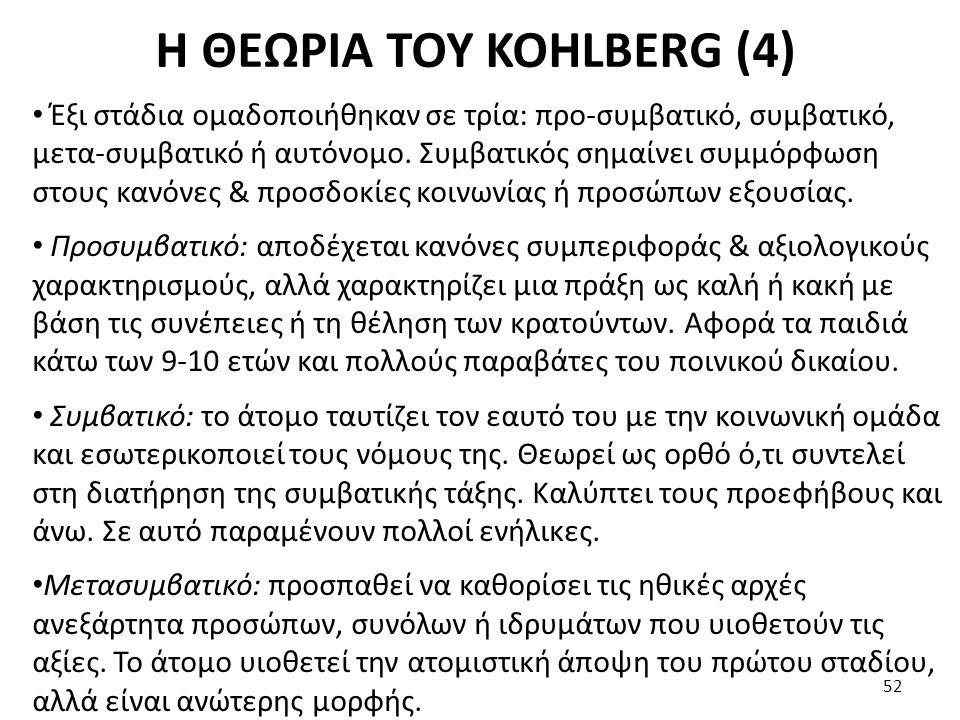 Η ΘΕΩΡΙΑ ΤΟΥ KOHLBERG (4)