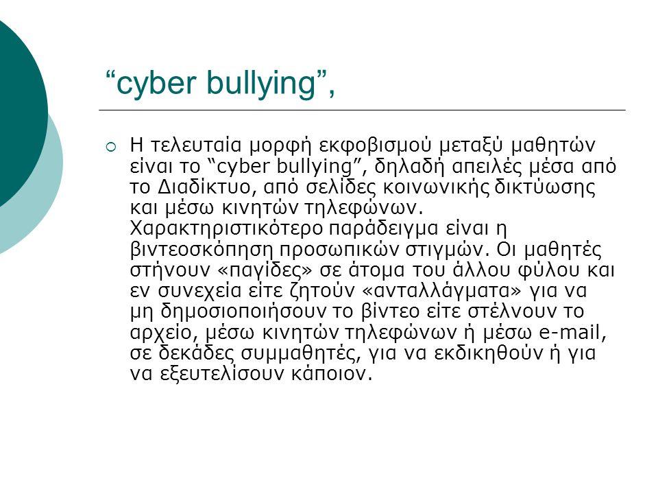 cyber bullying ,