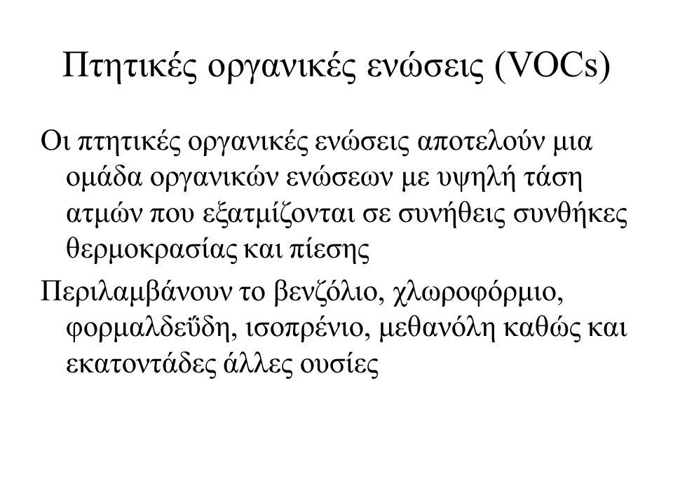 Πτητικές οργανικές ενώσεις (VOCs)