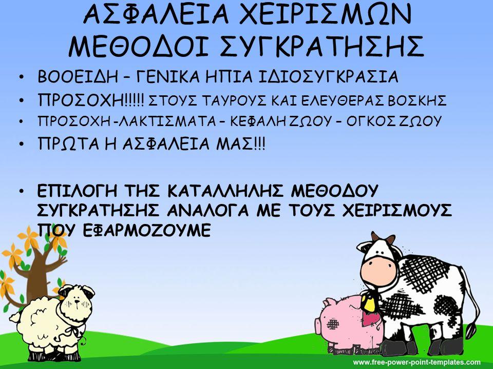 ΑΣΦΑΛΕΙΑ ΧΕΙΡΙΣΜΩΝ ΜΕΘΟΔΟΙ ΣΥΓΚΡΑΤΗΣΗΣ