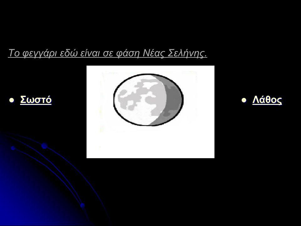 Το φεγγάρι εδώ είναι σε φάση Νέας Σελήνης.
