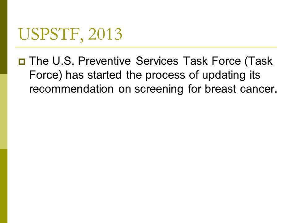 USPSTF, 2013