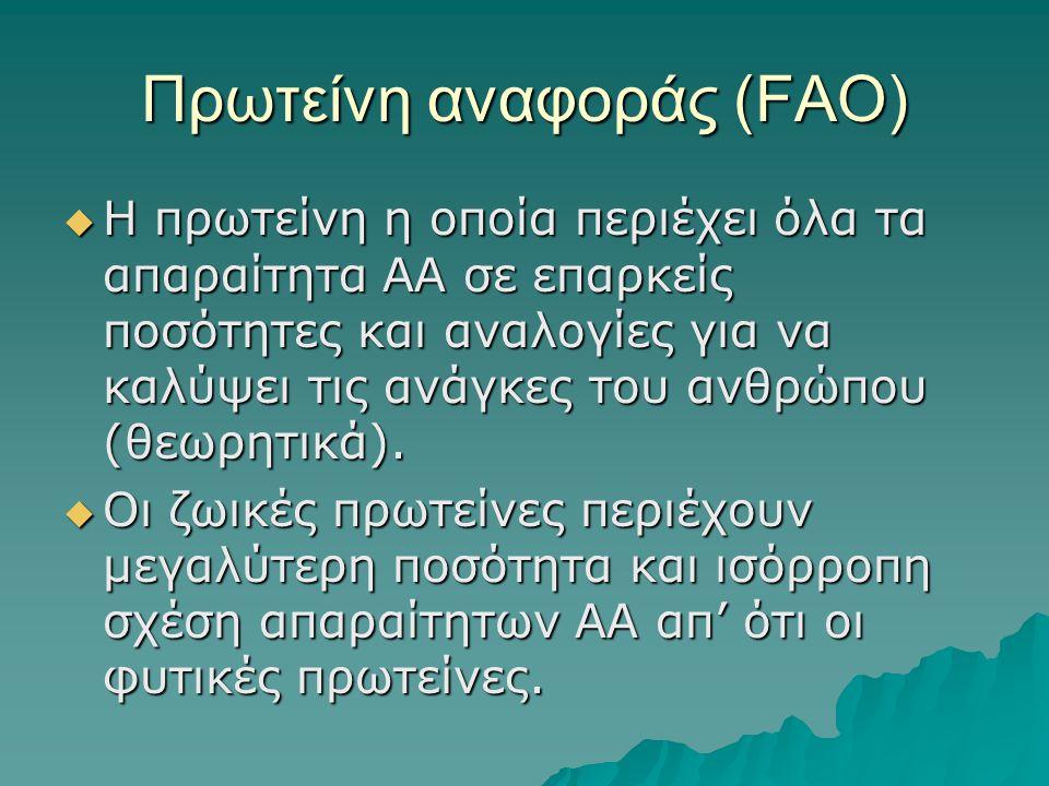 Πρωτείνη αναφοράς (FAO)