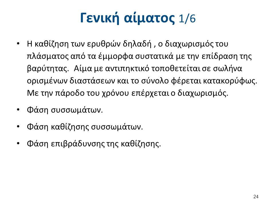 Γενική αίματος 2/6