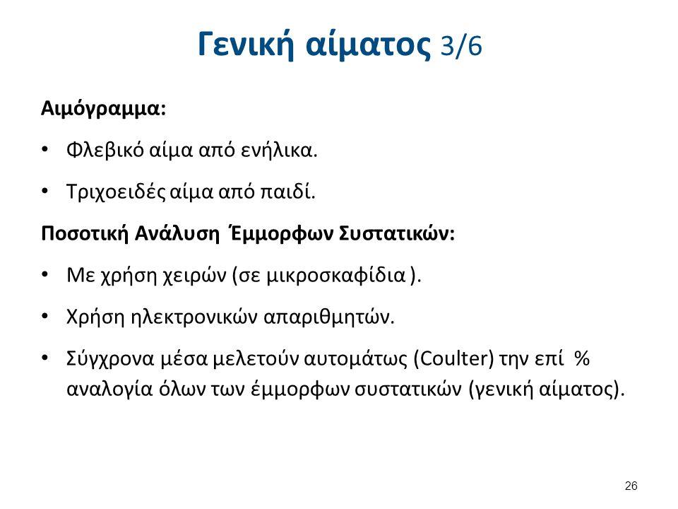 Γενική αίματος 4/6