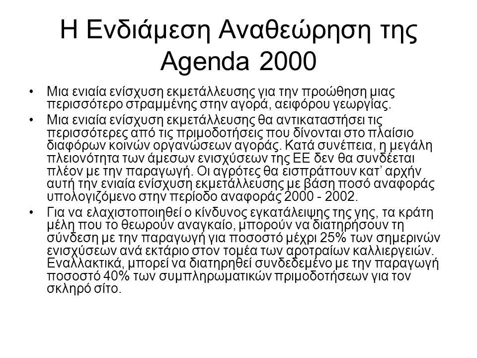 Η Ενδιάμεση Αναθεώρηση της Agenda 2000