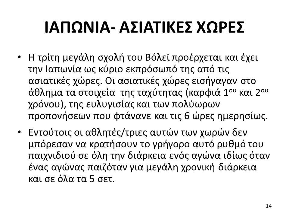 ΙΑΠΩΝΙΑ- ΑΣΙΑΤΙΚΕΣ ΧΩΡΕΣ